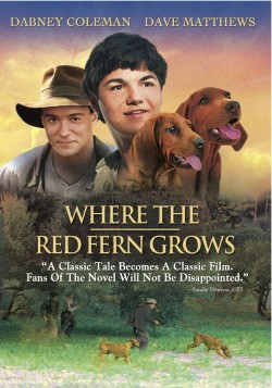 Movie poster WHERE THE RED FERN GROWS